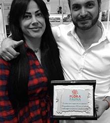 Luca Avagliano con la moglie